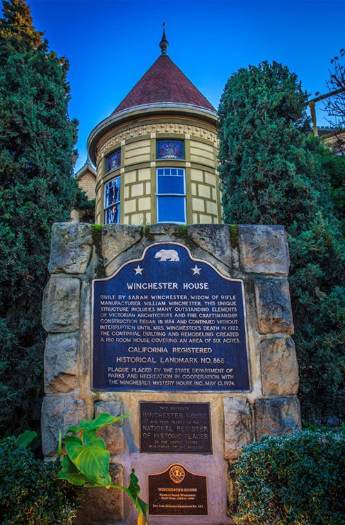 Winchester Mystery House Landmark Plaque