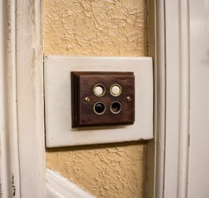 Old antique light switch buttons
