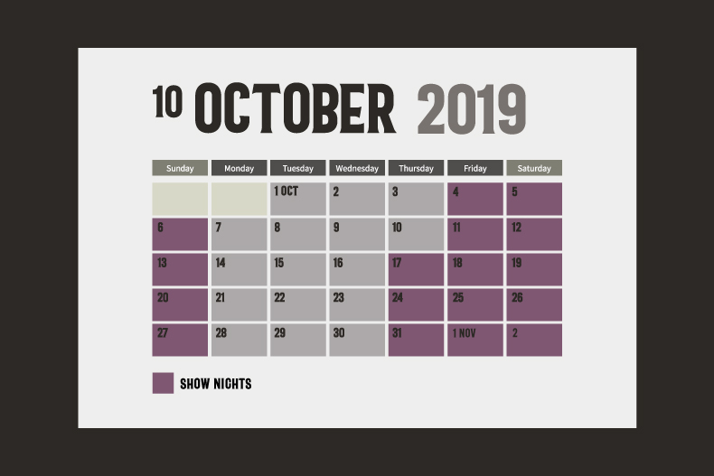 Unhinged October Calender